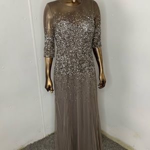 Mother of the bride Sequin Evening dress. Size 10
